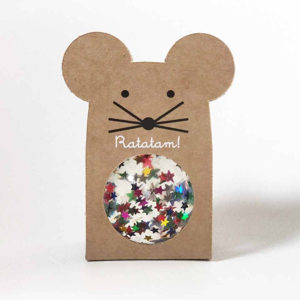 Small Glitter Bouncy Ball - Mouse : Multi Colour