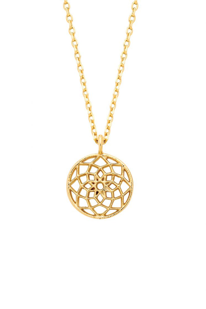 Dreamcatcher Necklace - Gold Plated