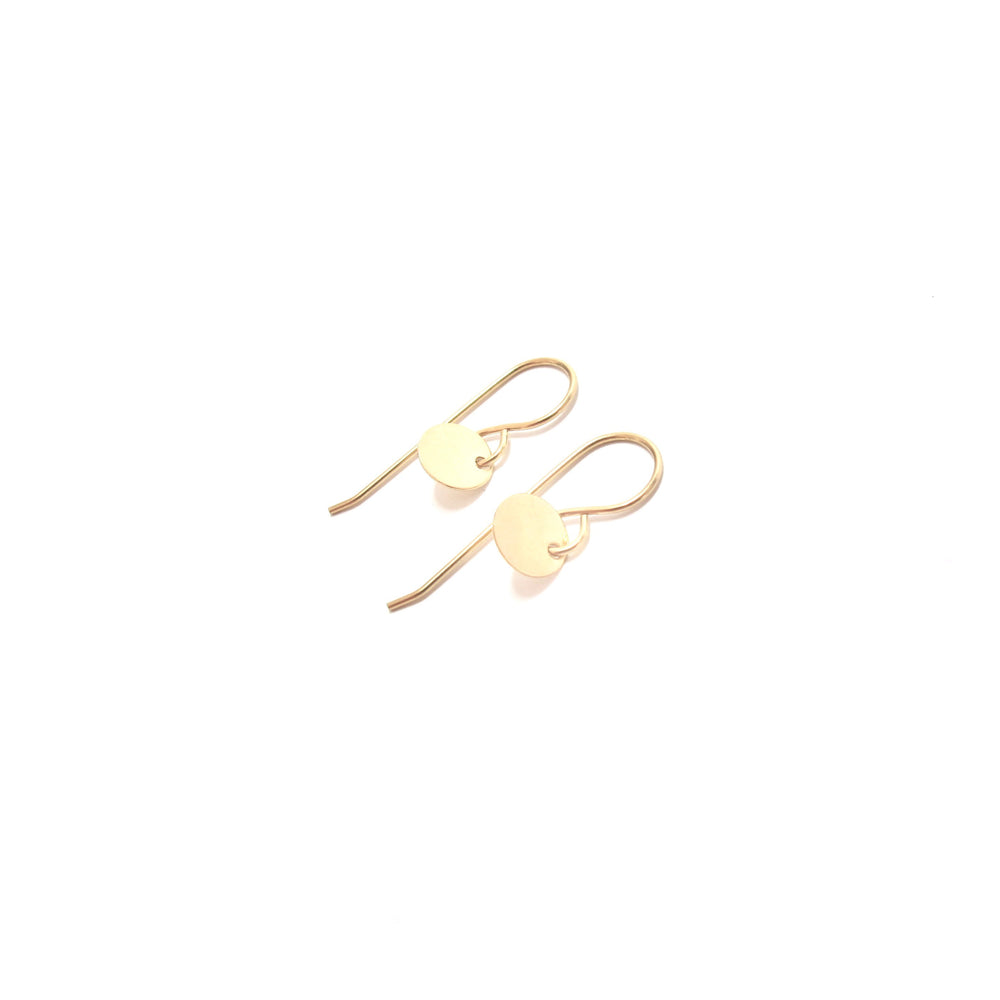 Small Gold Disc Hooks
