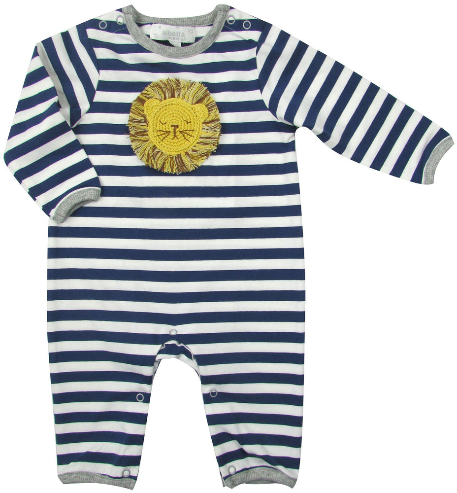 Striped Crochet Lion Babygrow