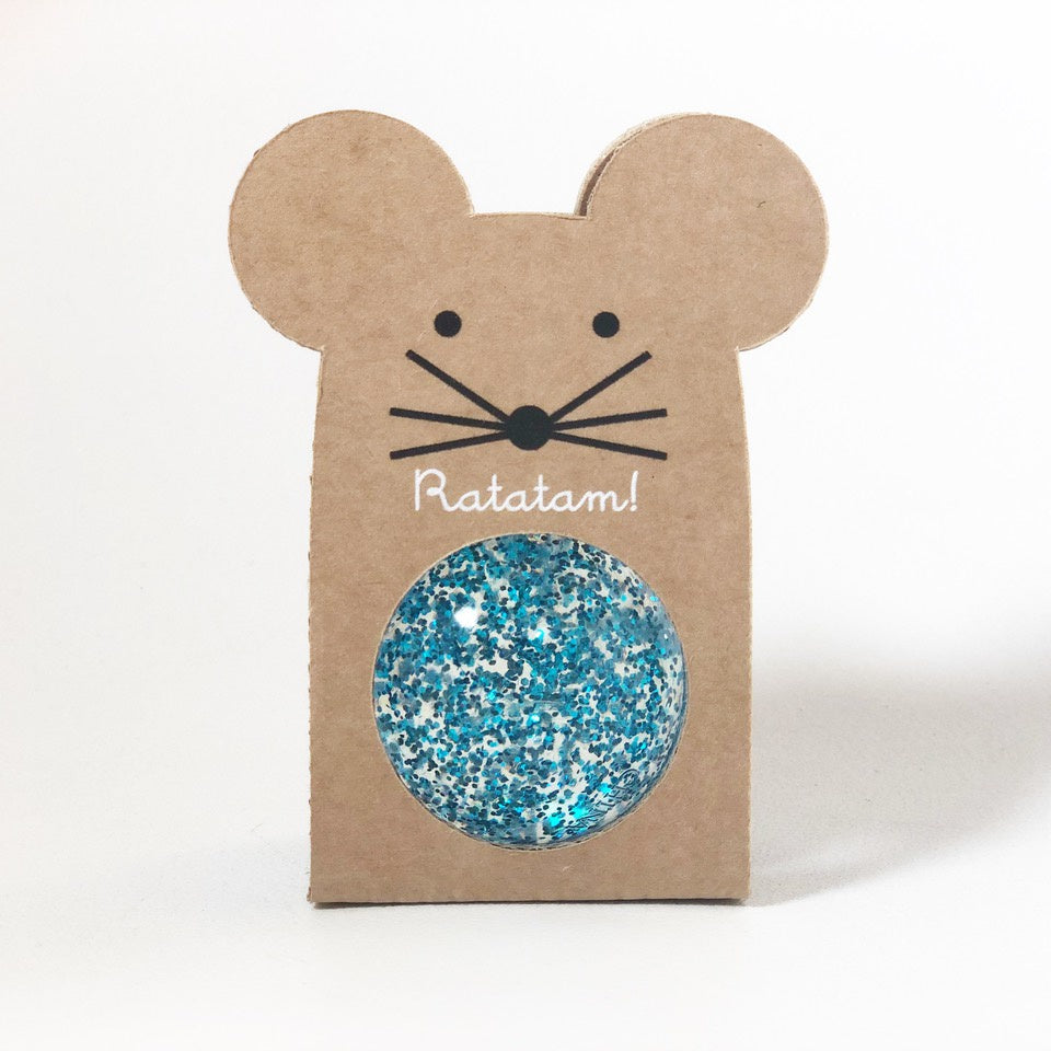 Mini Bouncy Ball Sparkle Blue
