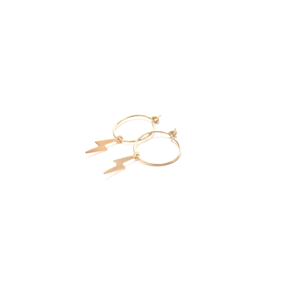 Lightning Small Hoop Earrings