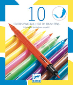 10 Felt Tip Brush Pens -Pop Colours