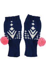 Alpine Fingerless Gloves - Navy