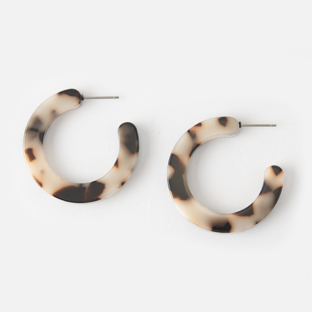 Resin Hoop Earrings