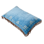 Blue Velvet Rectangular Cushion