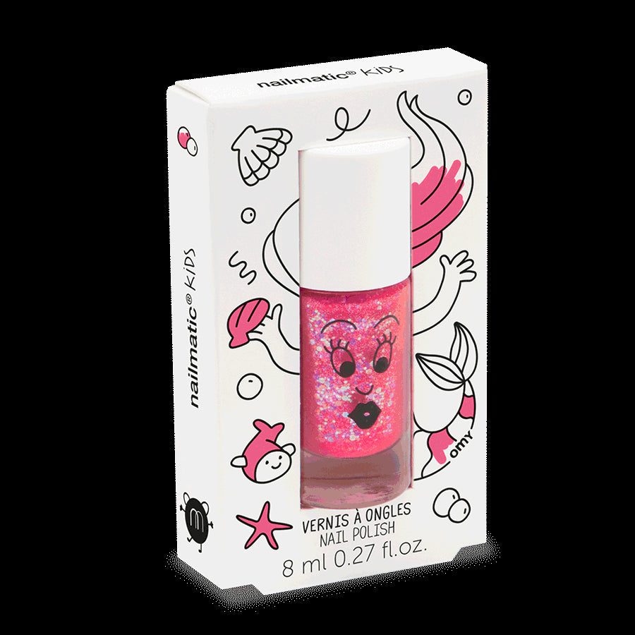 Sissi Glitter Pink Nail Varnish 8ml