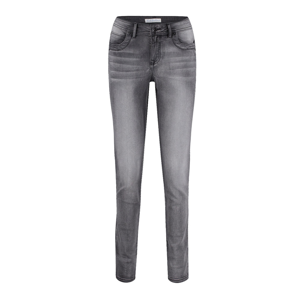 Laila Grey Embroidered Jeans