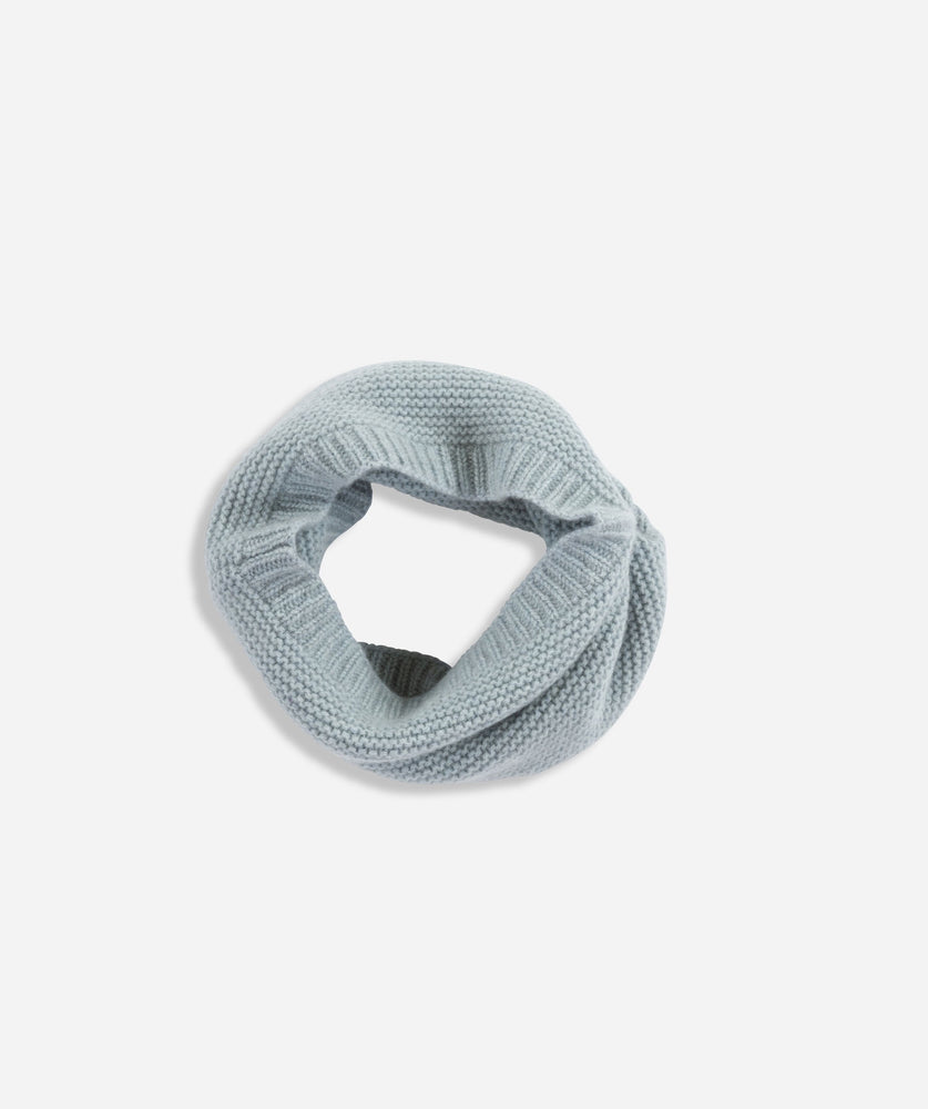Cashmere Garter Snood- Duck Egg