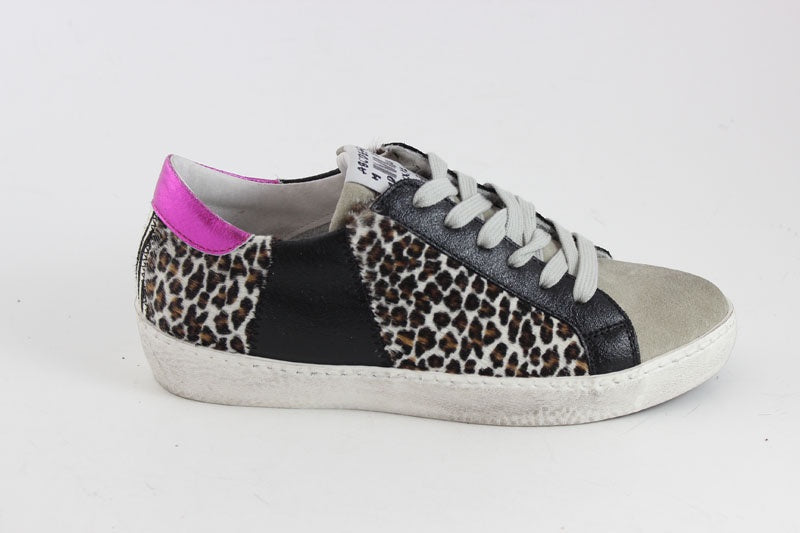 Animal Print & Metallic Mix Trainer