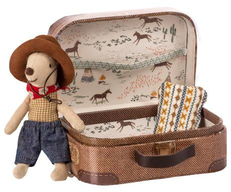 Cowboy in Suitcase- Little Brother Mouse