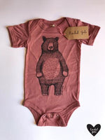 Mr. Bear Baby Vet- Mauve