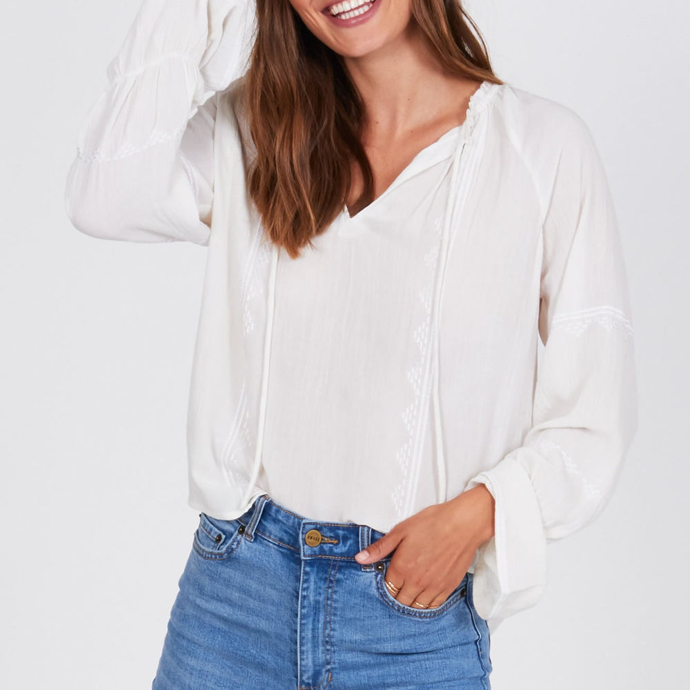 Pebble Woven - Cream Top