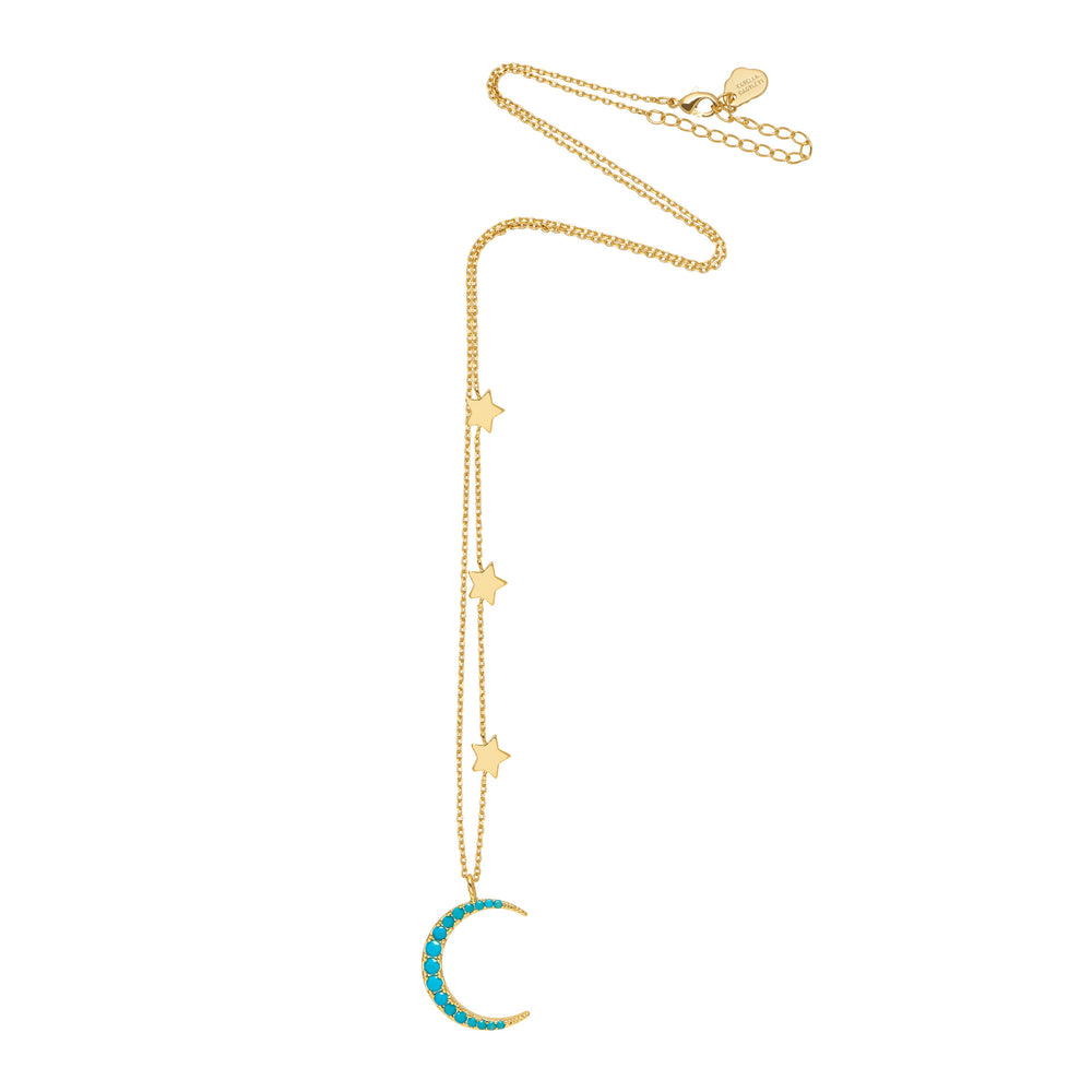 Statement Moon and Stars Necklace
