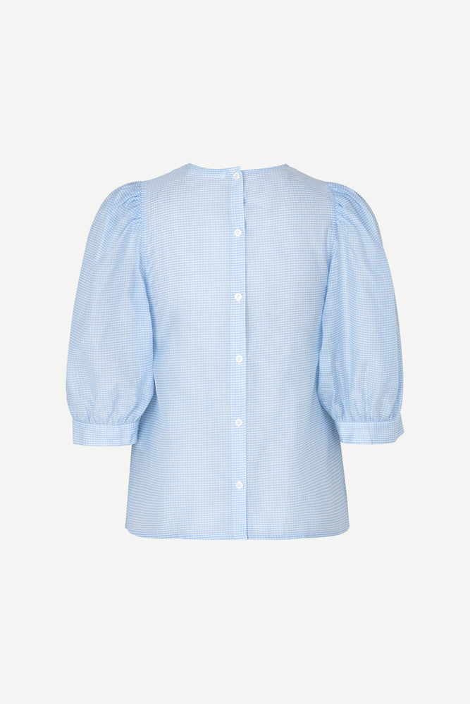 Celestine Blouse-Blue Check