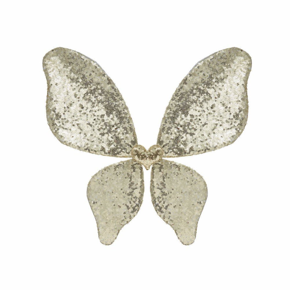 Sparkle Sequin Wings-Gold