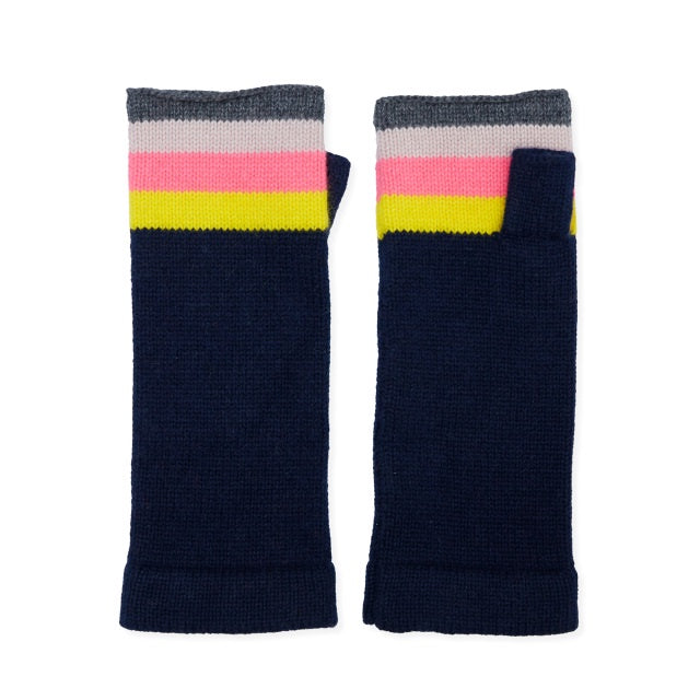 Rainbow Wrist Warmer - Navy