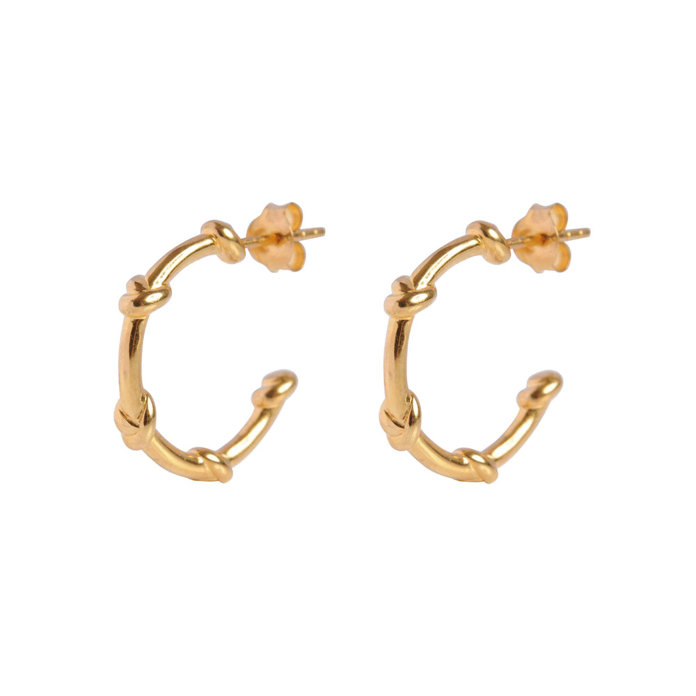 Gold Knot Hoops