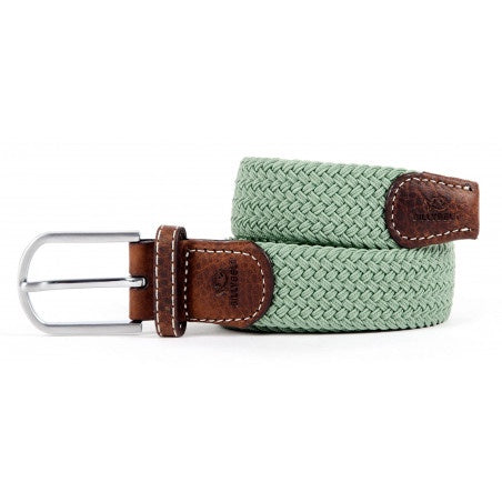 Men's Braid Belt: Almond Green
