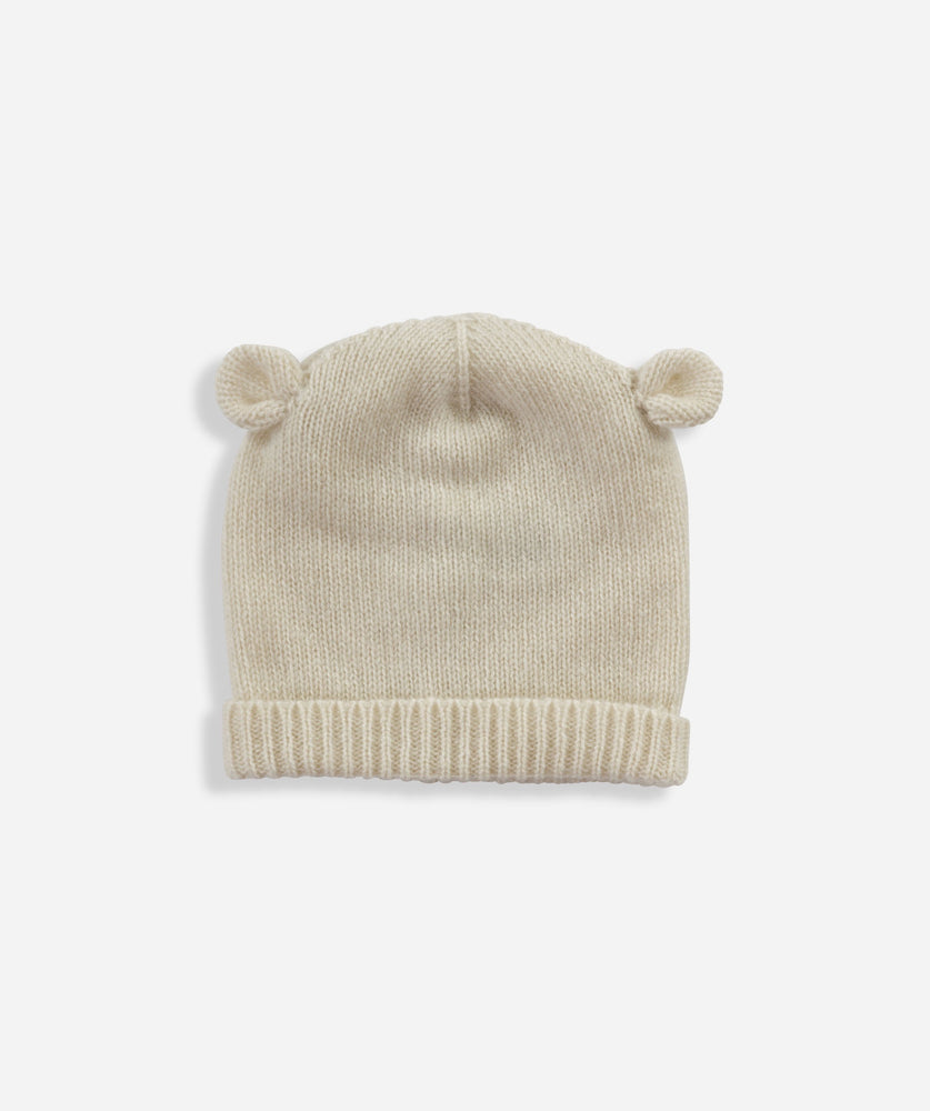 Cashmere Bear Hat - Cream