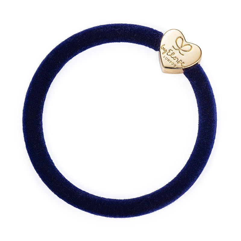 Velvet Gold Heart Navy