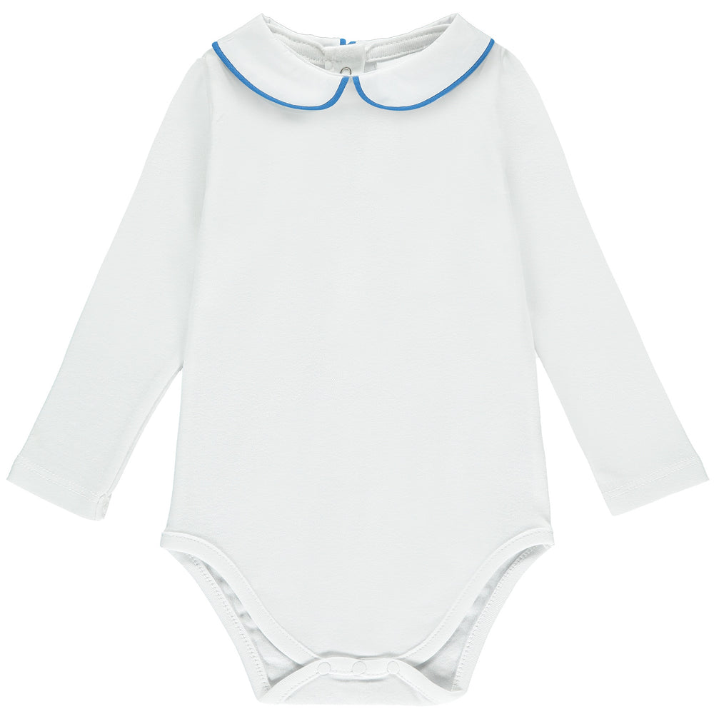 Peter Pan Collar Babygrow - Blue