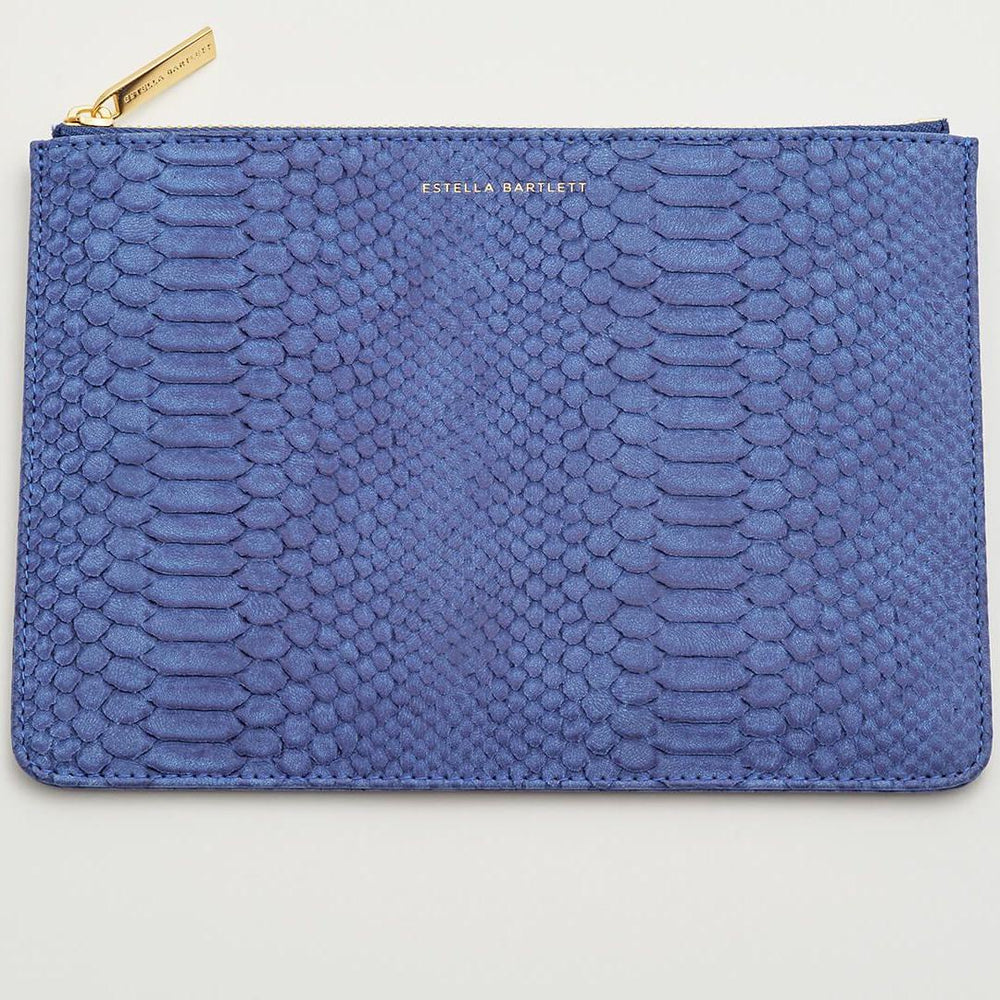 Medium Pouch Navy Snake