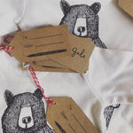 Mr. Bear Kids T-shirt- White