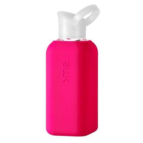 Glass Bottle with Silicone Sleeve- Pink