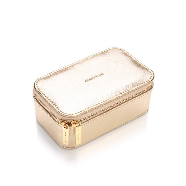 Mini Jewellery Box - Gold - Dream Big