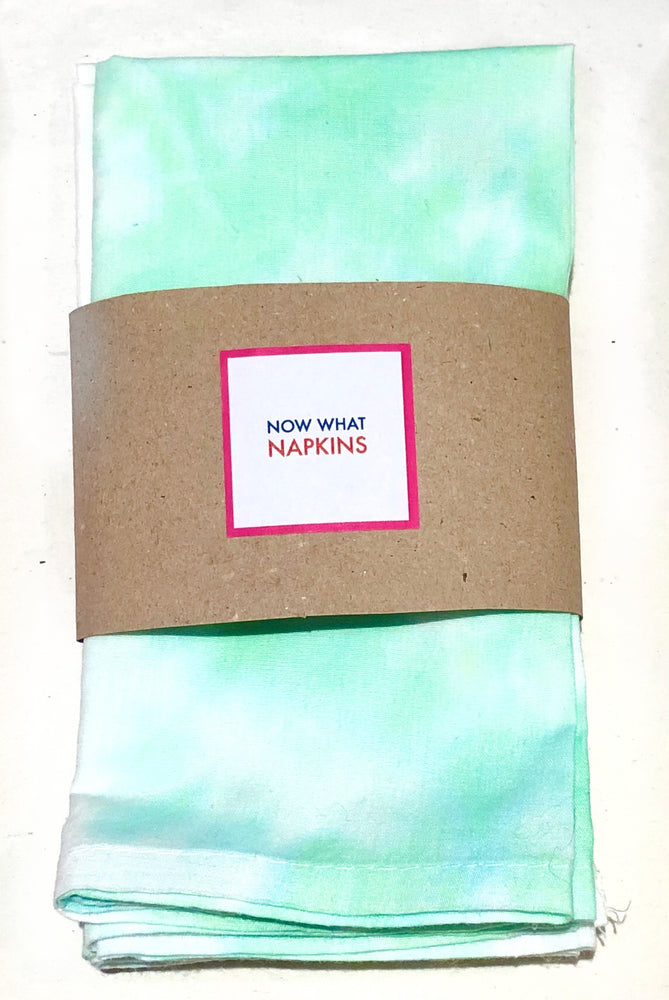 Set of Four Napkins - Green Tie Dye