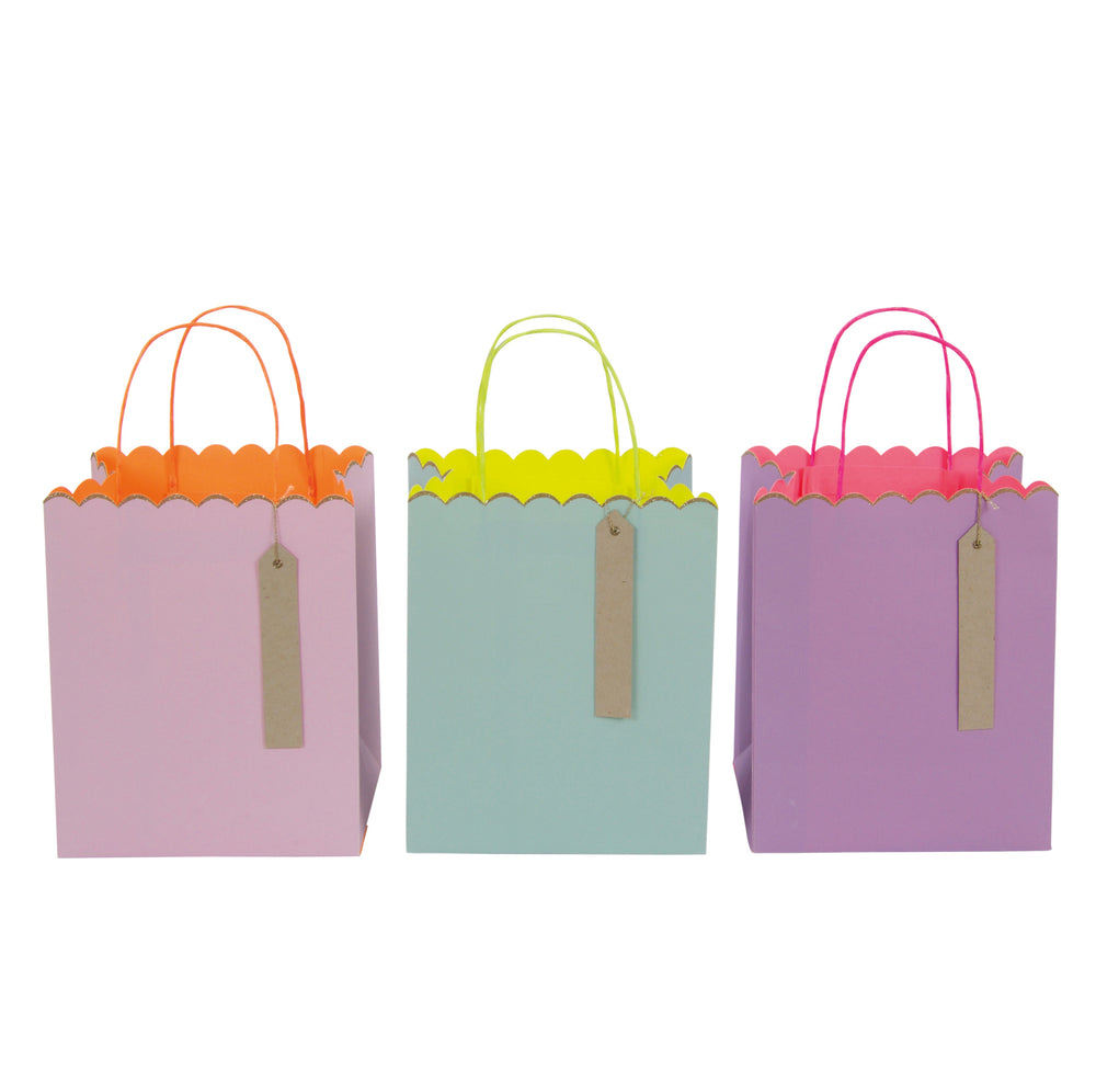 Pastel and Glitter Gift Bags-Medium