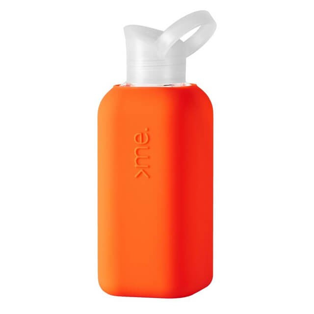 Glass Bottle with Silicone Sleeve- Coral