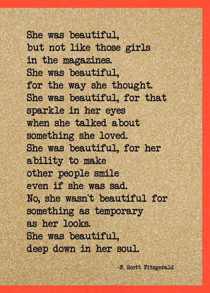 She was beautiful F Scott Fitzgerald