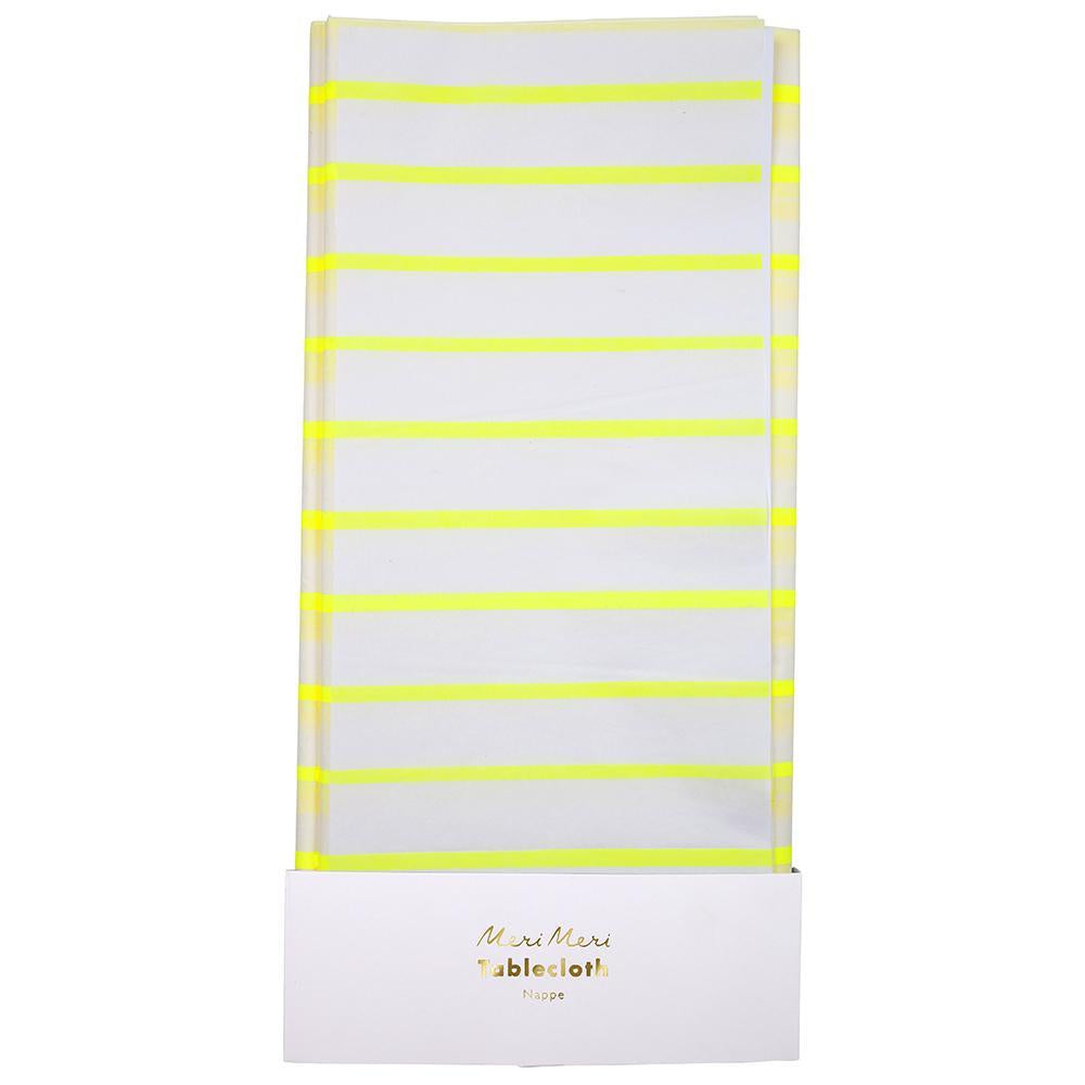 Meri Meri Striped Yellow Table Cloth