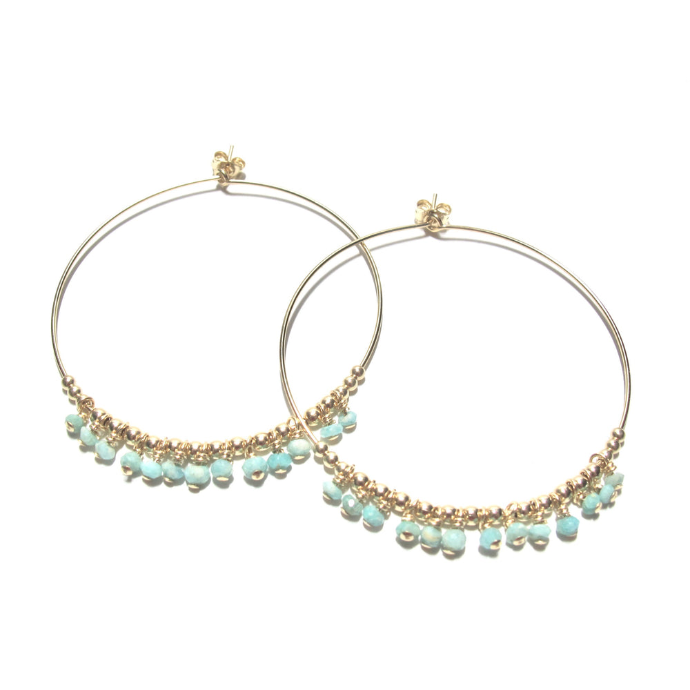 Larimar Large Hoops