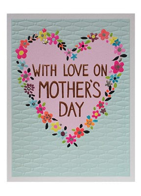 Mother's Day-Floral Heart