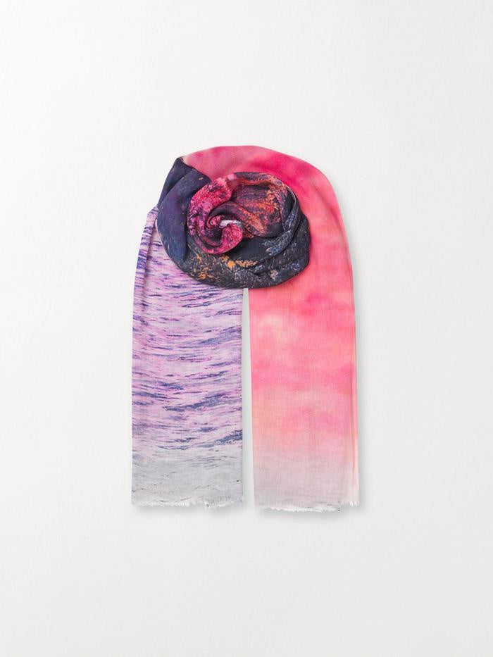 Mountains Scarf-Pink