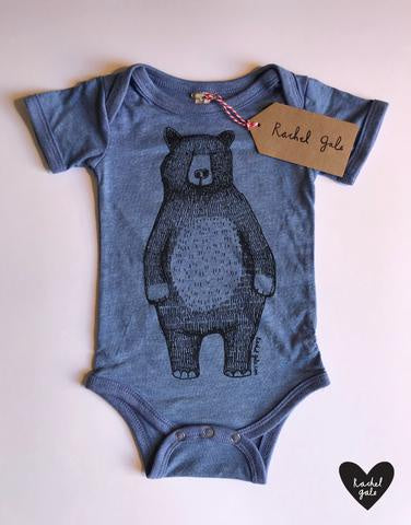 Mr. Bear Baby Vest-Blue