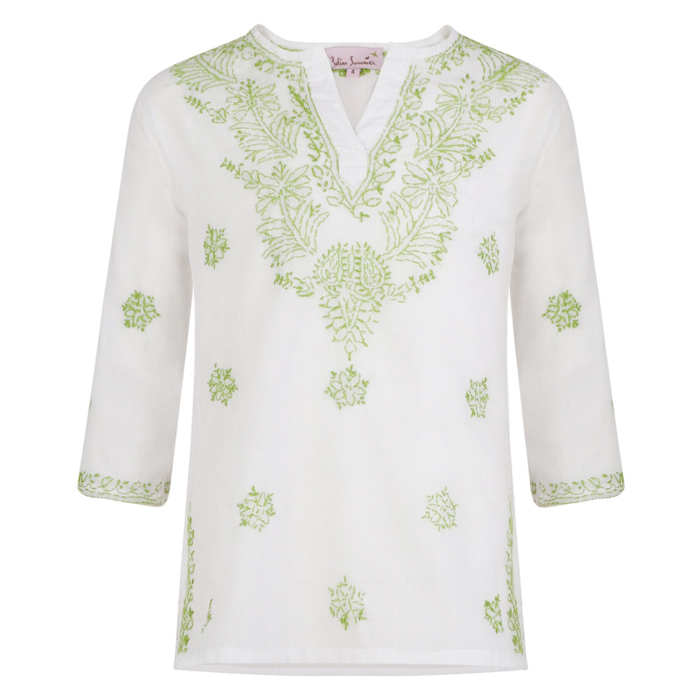 Elle Kids Kaftan Lime Green