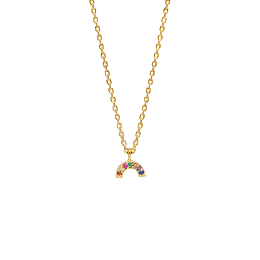 Believe in Magic Rainbow Gold Plated Necklace