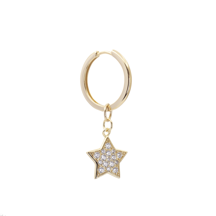 Large Sparkily Star Hoops