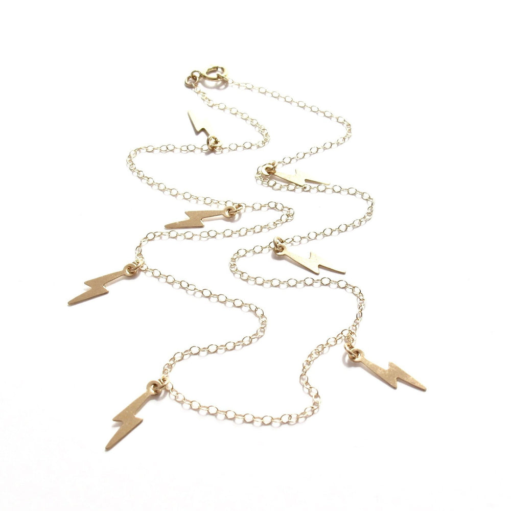 Multi Lightening Charm Necklace