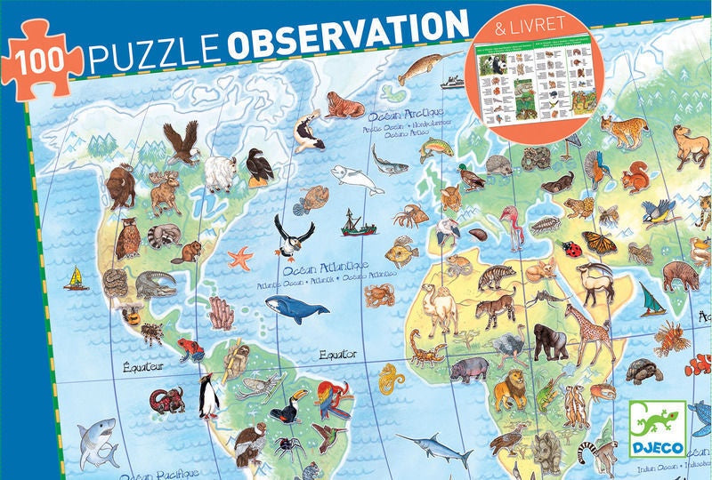 Observation Puzzle- World's Animals