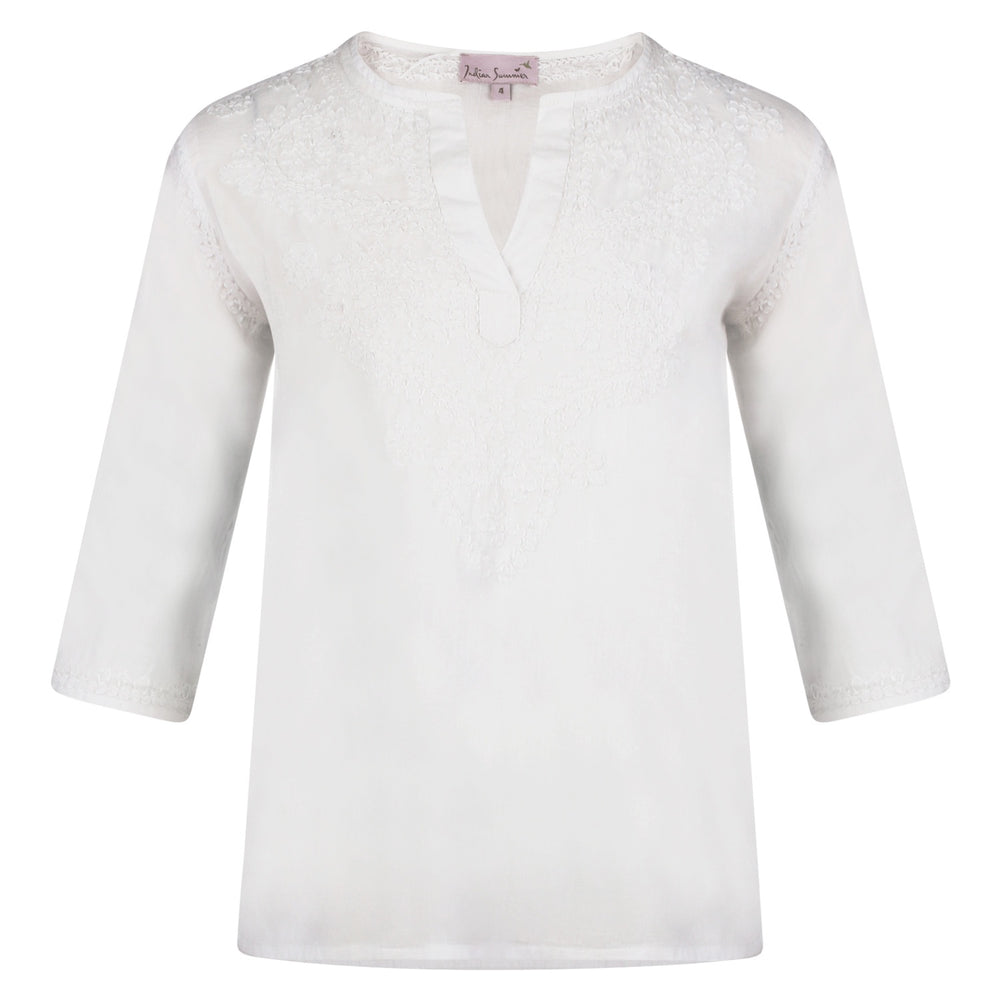 Elle Kids Kaftan White