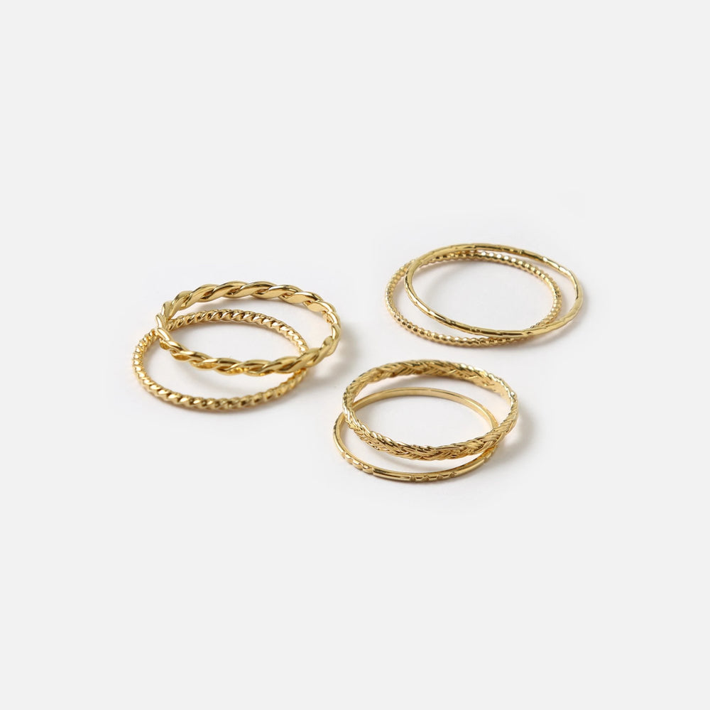 Gold Multi Stack Rings