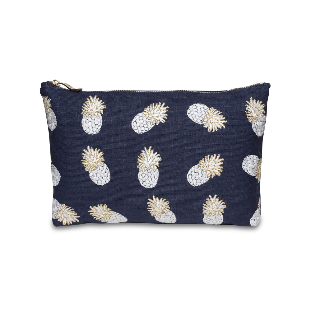 Pineapple Indigo Wash Bag