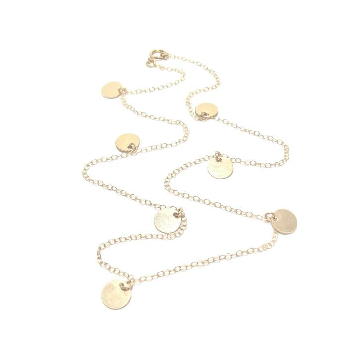 Multi Disc Gold Necklace