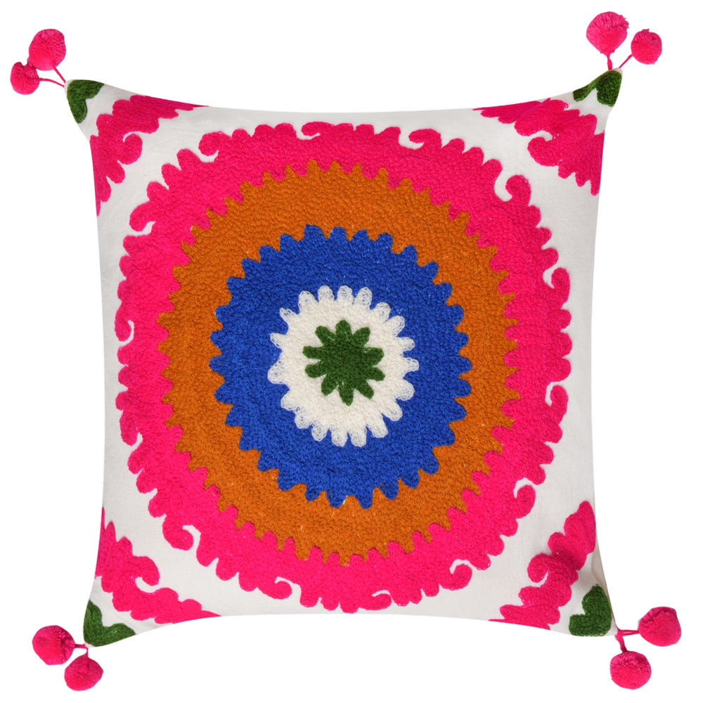 Scatter Cushions Crochet Pink on White