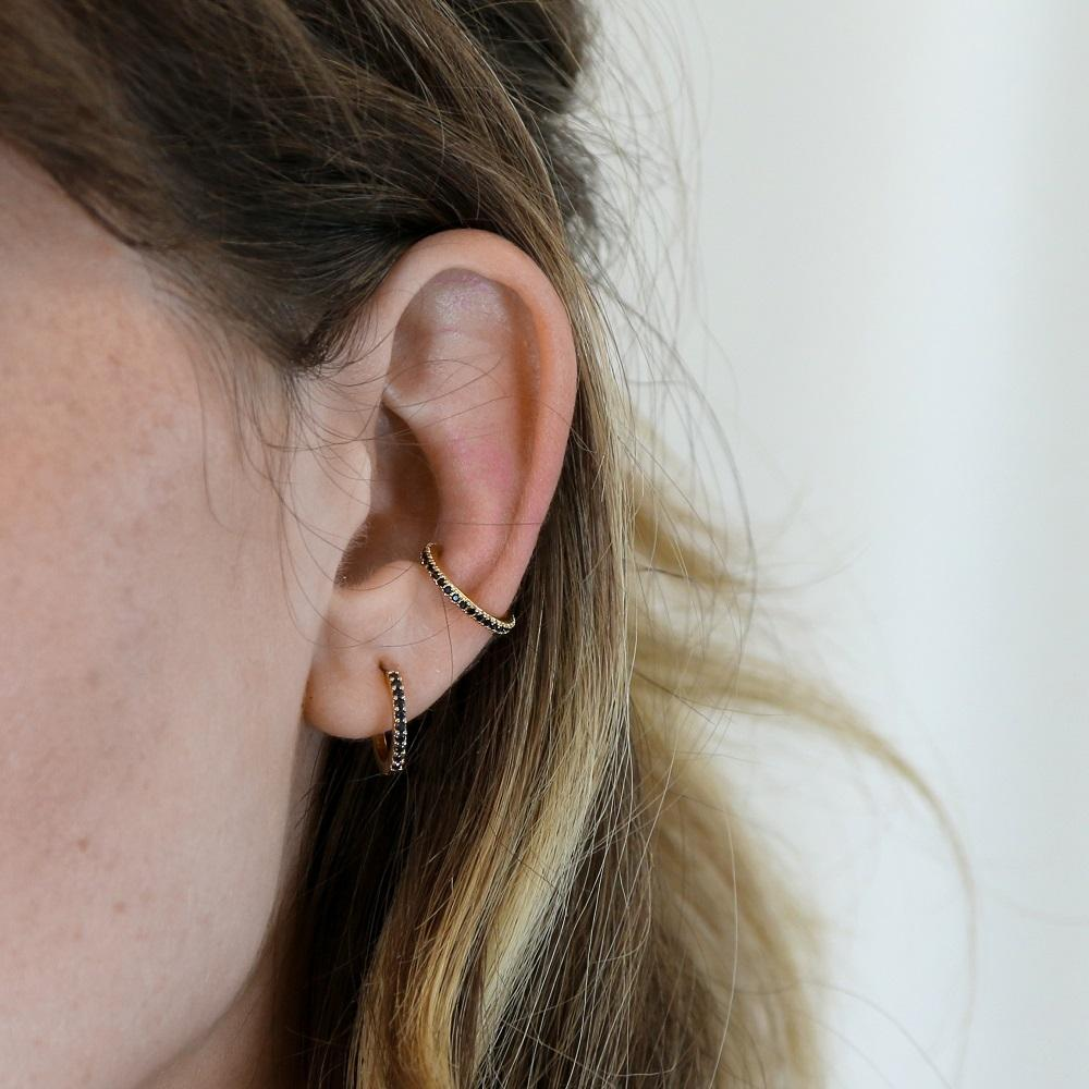 Jet Pave Single Ear Cuff